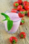 strawberry mint lassi